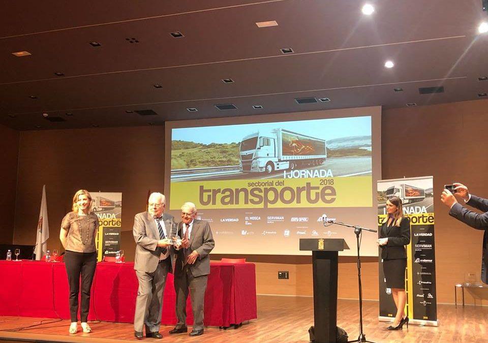 Transportes el Mosca recibe un reconocimiento en la I Jornada sectorial del Transporte